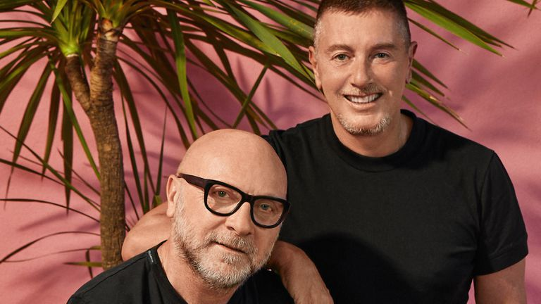Los diseñadores italianos Domenico Dolce y Stefano Gabbana.