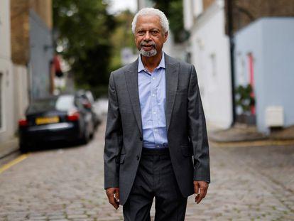 Abdulrazak Gurnah, este viernes, en Londres.