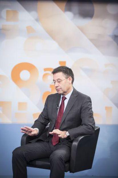Bartomeu, durante la entrevista en 8TV.