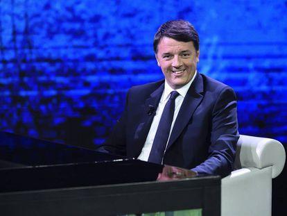 El ex primer ministro italiano Matteo  Renzi, en un  programa de televisión el pasado diciembre.