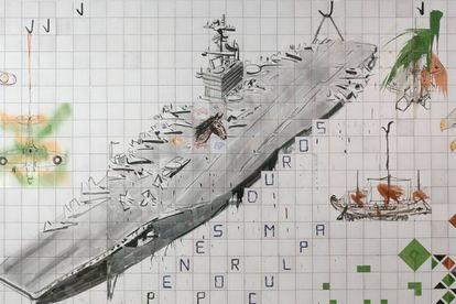 Detalle de la instalación 'Urazurrutia 32'.