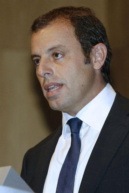 El presidente del FC Barcelona, Sandro Rosell.
