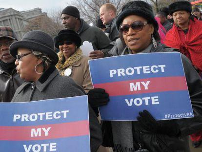 Marcha por el derecho a voto en Washington el pasado mes de febrero.