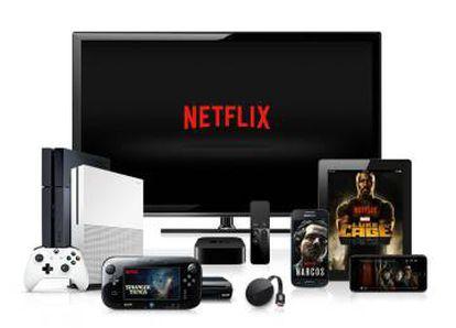 Imagen promocional de los dispositivos en los que funciona la plataforma de Netflix.