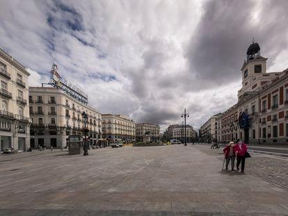 La Puerta del Sol, el pasado mayo, antes de que comenzara la desescalada.