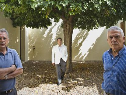 Suárez, a la izquierda, Pérez Escolano y Sierra.