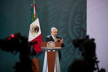 El presidente de México, Andrés Manuel López Obrador, en una rueda de prensa el 24 de junio.