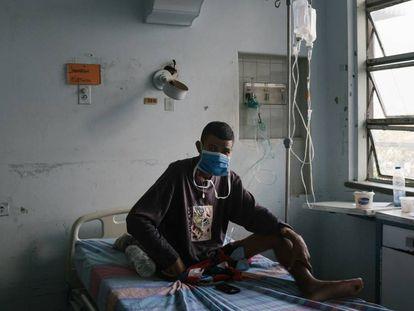 Una habitación de un hospital de Caracas.