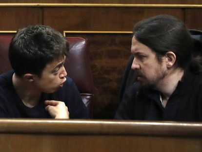 Pablo Iglesias, y el secretario político de la formación, Íñigo Errejón.