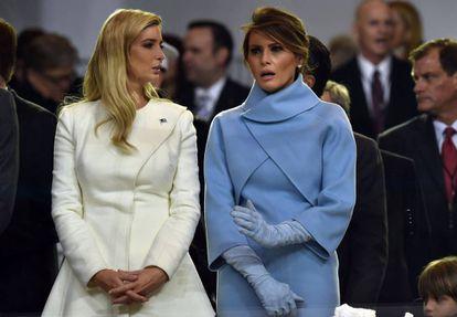 Ivanka y Melania Trump, durante la investidura presidencial de Donald Trump, en enero de 2017.