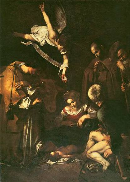 'Natividad con San Francisco y San Lorenzo' (1609), de Caravaggio, robada por la Mafia en 1969 del Oratorio de San Lorenzo de Palermo.