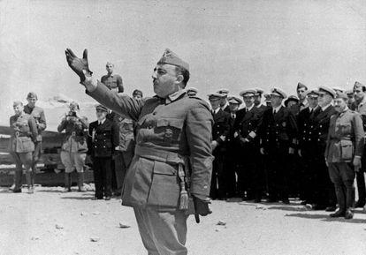 Franco en una visita a Vinaroz, al norte de la Comunidad Valenciana.