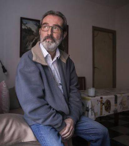 Enrique García, en su domicilio de Madrid.