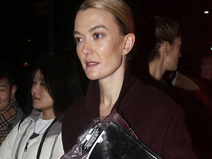 Marta Ortega llega al desfile de Calvin Klein en Nueva York el pasado 13 de febrero.