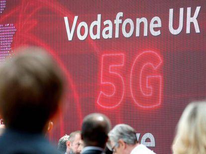 Lanzamiento del 5G de Vodafone en Reino Unido, en julio de 2019.