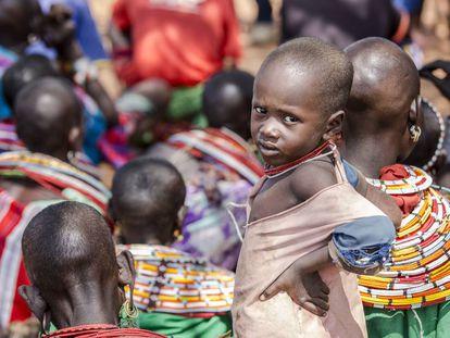 Un niño de la etnia samburu en Kenia.