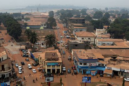 Vista de Bangui, capital de República Centroafricana.