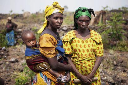 Mujeres de la región de Kivu Norte, en Congo.