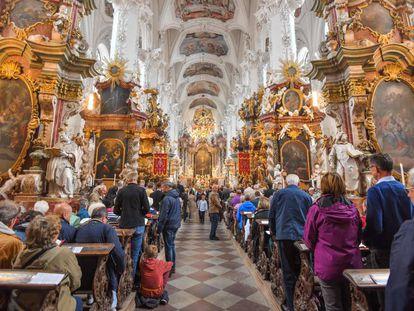 Interior de una iglesia alemana la semana pasada.