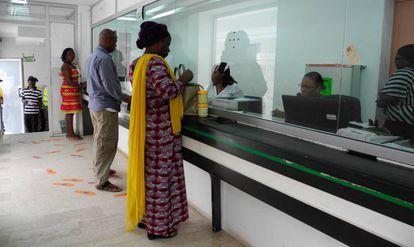 Oficina bancaria de Abiyán, Costa de Marfil.
