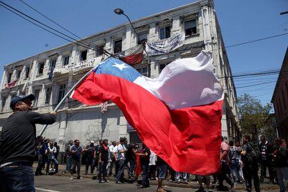 Una manifestación en Valparaíso, Chile, el pasado 21 de diciembre.