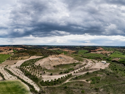 Vista aérea del yacimiento de Libisosa.