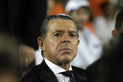 El exjuez argentino Norberto Oyarbide, asistente a un partido de tenis en Tigre en 2012.