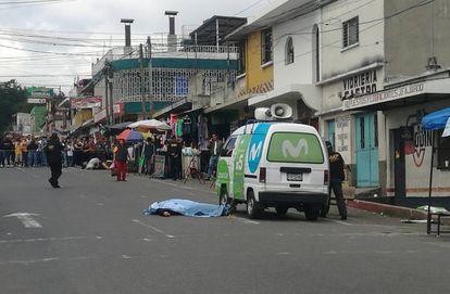 Un trabajador de Movistar yace muerto en Ciudad de Guatemala