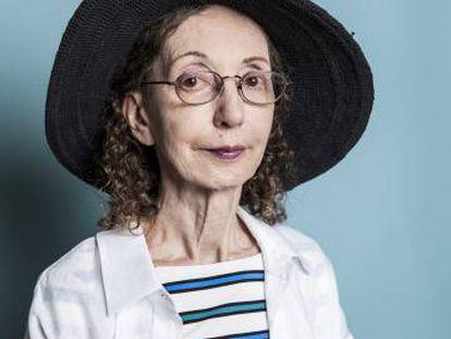 La escritora Joyce Carol Oates, en julio en París.