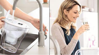 Elegimos la jarra con filtro de la firma Brita como una solución idónea para disfrutar de un agua del grifo filtrada de forma óptima.