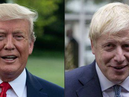 Donald Trump (izquierda ) y Boris Johnson.