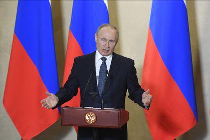Vladímir Putin, en una ceremonia en Sebastopol en la península ucrania de Crimea el pasado miércoles.