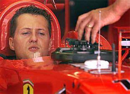 Michael Schumacher, en Hungaroring.
