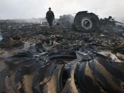 Lugar del siniestro del vuelo MH17, en la provincia de Donetsk (Ucrania).