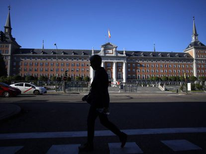 Fachada del que fuera Ministerio del Aire durante la dictadura de Franco, edificio proyectado por Luis Gutiérrez Soto.