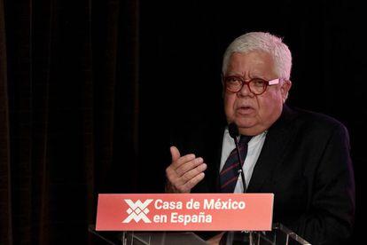 Enrique Marquez, director de la diplomacia cultural en México durante un acto, en una foto de archivo.