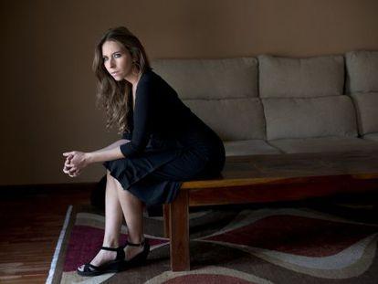 La cantaora Rocio Marquez en su casa.