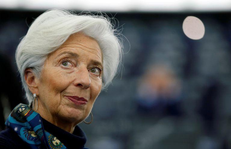 Christine Lagarde, presidenta del BCE, en la sede de Estrasburgo del Parlamento Europeo.
