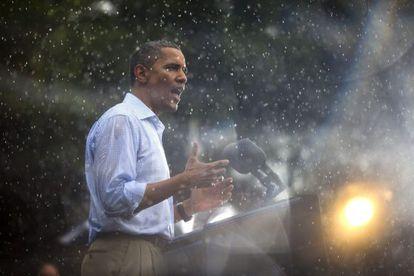 Obama durante una visita a Virginia, el sábado.