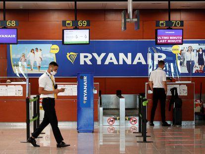 Mostradores de Ryanair en el aeropuerto de Barcelona-El Prat.