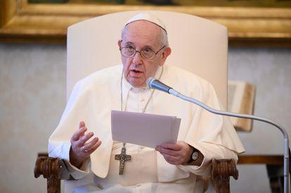 Francisco, durante una audiencia en Palacio Apostólico del Vaticano.