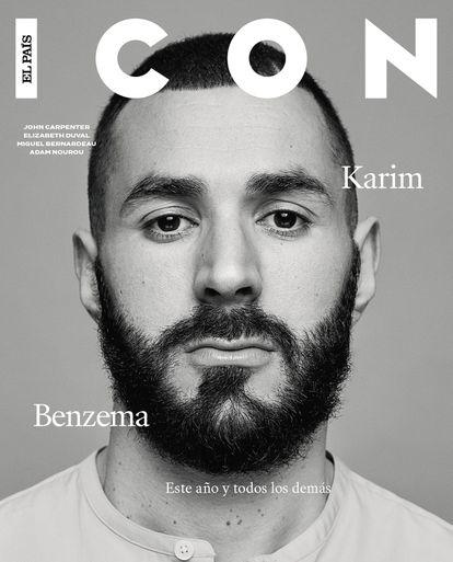 Karim Benzema, fotografiado en exclusiva para ICON, lleva camisa Hermès.