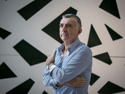 Manuel Vilas, poeta y escritor, en Madrid.