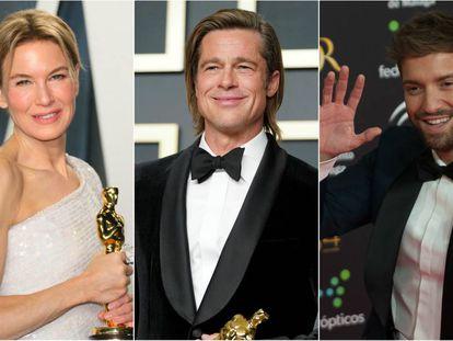 Renée Zellweger, Brad Pitt y Pablo Alborán.