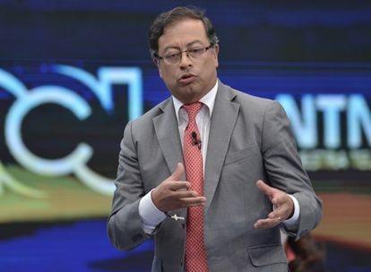 Gustavo Petro, durante un debate presidencial en 2018.