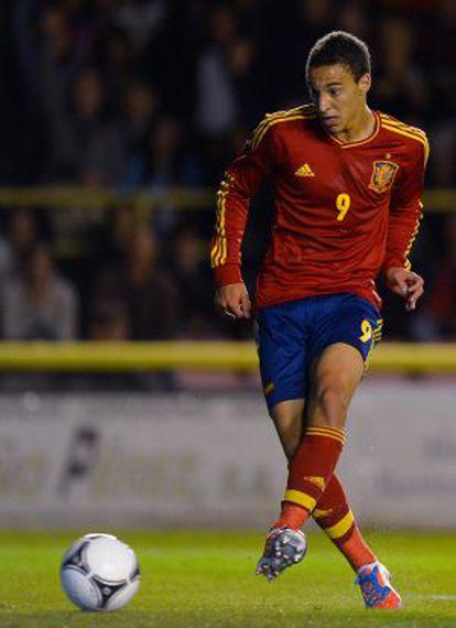 Rodrigo, durante el partido