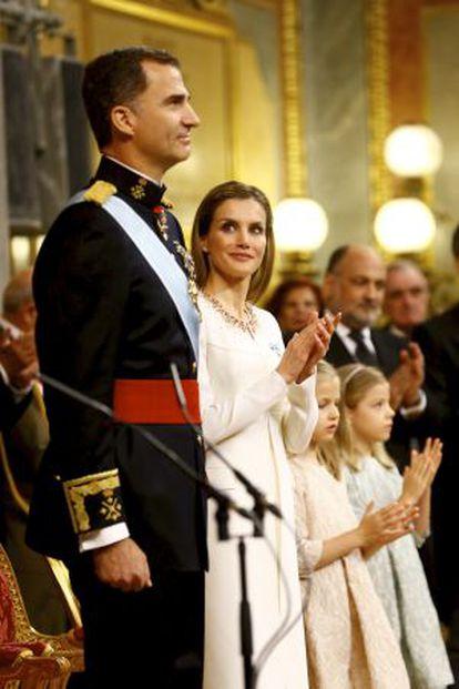 Ceremonia de proclamación de Fellipe VI en el Congreso el pasado 19 de junio.