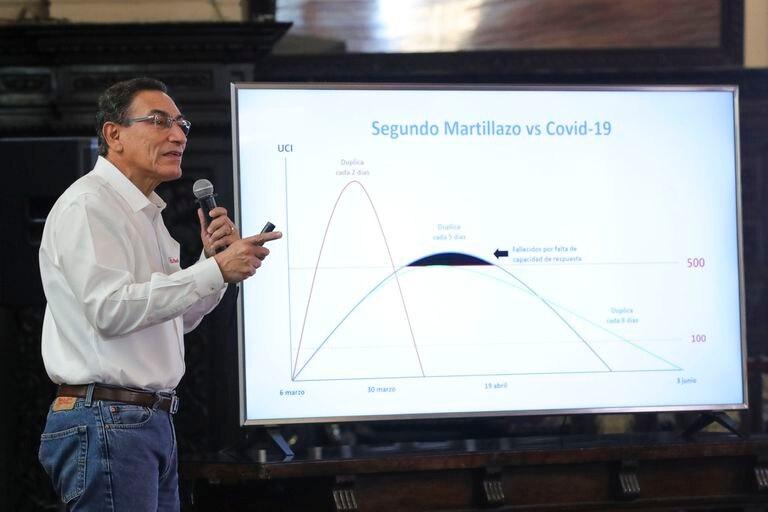 El presidente de Perú, Martín Vizcarra, durante una conferencia.