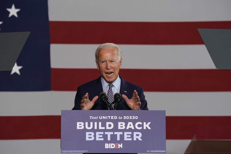 Joe Biden, durante su discurso sobre economía en Pensilvania, este jueves.