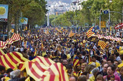 La manifestación soberanista de la Diada en septiembre.